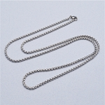 24 Inch Stainless Steel Square Rolo Chain for Floating Locket